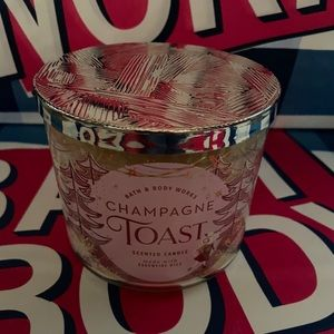 Champagne toast 3 wick candle